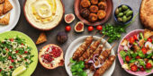 Verschiedene afrikanische Speisen