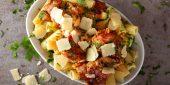 Mediterraner Nudelauflauf mit Parmesan